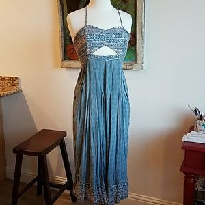 Free People rayon jumpsuit pockets small